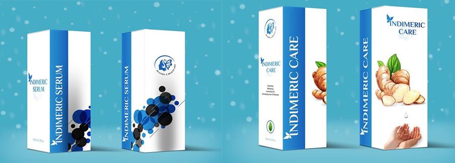Hai sản phẩm trị mụn indimeric serum và sữa rửa mặt indimeric care nổi tiếng